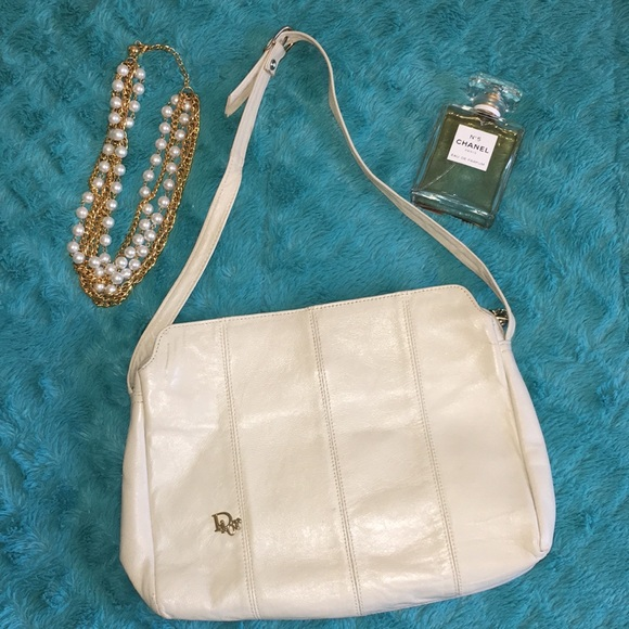 Dior Bags   Christian Vintage Leather Cream Purse 1950   Poshmark e3a7cc25fd
